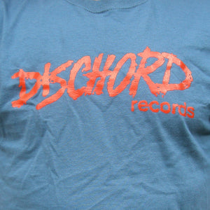 Kid's Size - Old Dischord Logo T-shirt INDIGO BLUE / RED