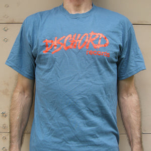 Old Dischord Logo T-shirt INDIGO BLUE / RED