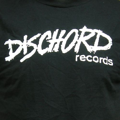 Kid's Size - Old Dischord Logo T-shirt BLACK / WHITE