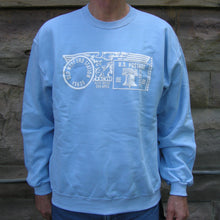 Old West End Post Office - Crewneck Sweatshirt LIGHT BLUE / WHITE
