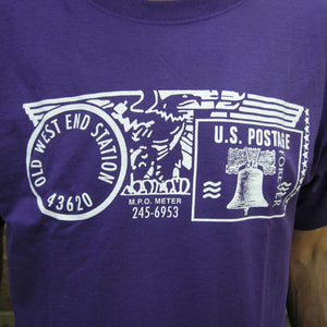 Old West End Post Office T-shirt Purple