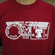 Old West End Post Office - Crewneck Cardinal Red
