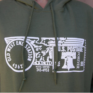 Old West End Post Office - Hoodie MILITARY GREEN