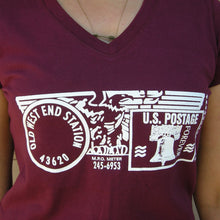 Old West End Post Office - Ladies' V-Neck - Maroon