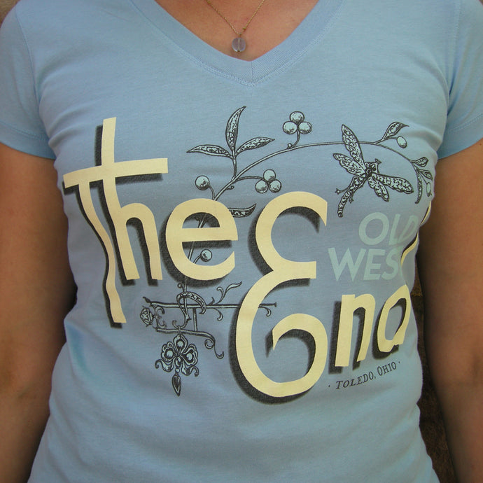 The (Old West) End Dragonfly - Ladies' V-Neck - Ocean Blue