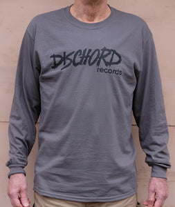 Old Dischord Logo - Long-Sleeve T-shirt CHARCOAL / BLACK