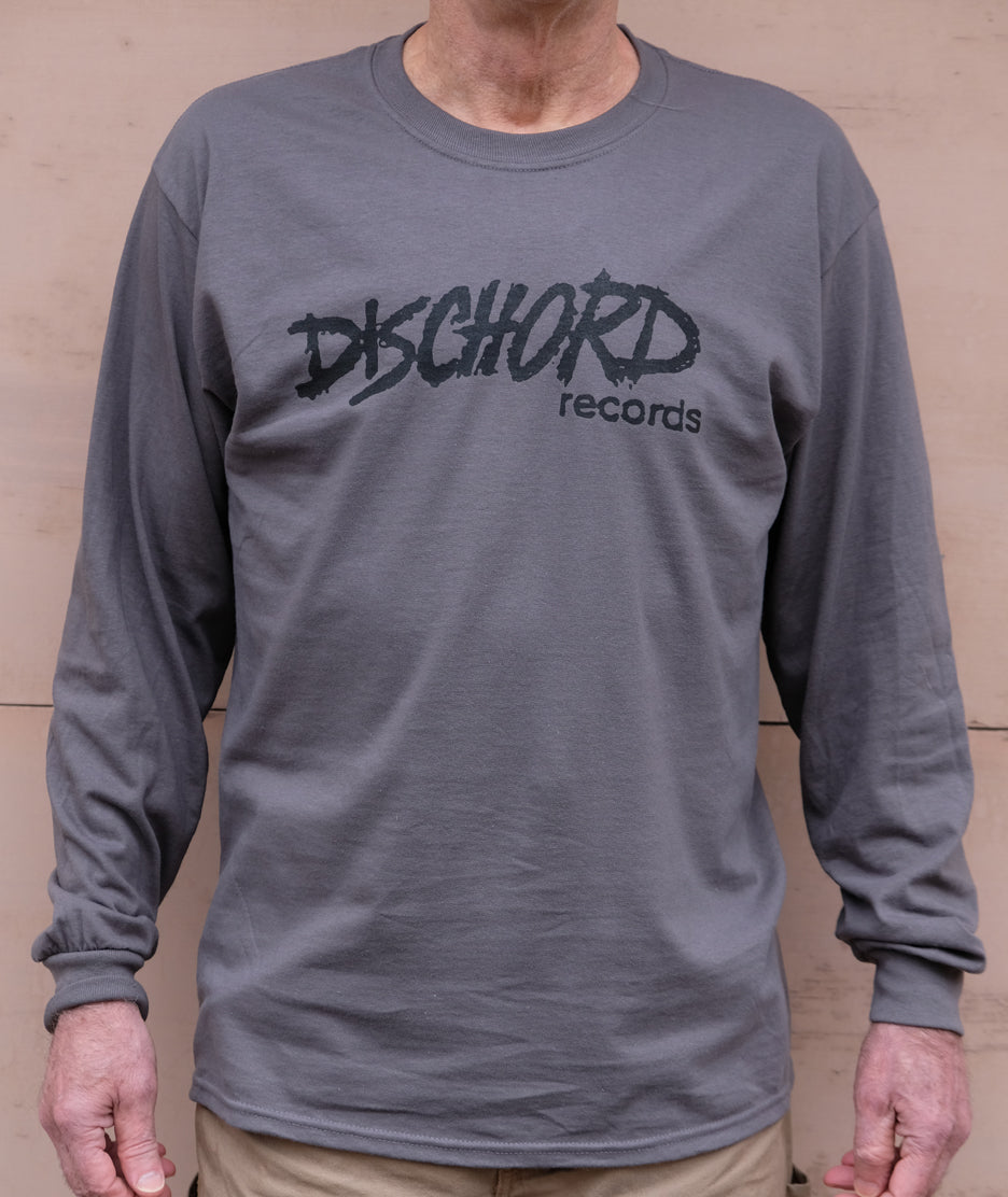 Old Dischord Logo Long-Sleeve T-shirt CHARCOAL / BLACK