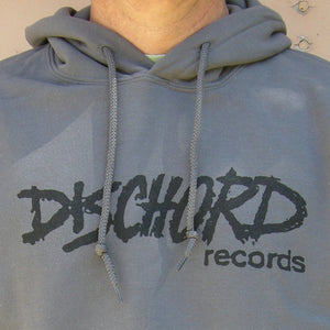 Old Dischord Logo Hooded Sweatshirt CHARCOAL / BLACK