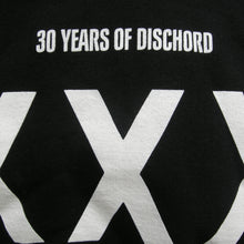 XXX Dischord 30th Anniversary - Hooded Sweatshirt BLACK / WHITE
