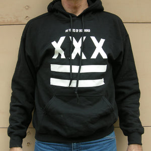 XXX Dischord 30th Anniversary Hooded Sweatshirt BLACK / WHITE