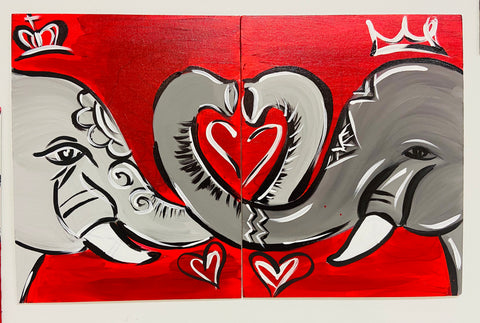 Elephant Love Duo Paint Kit