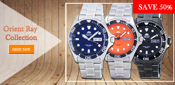 Orient Ray collection superbly integrated models.