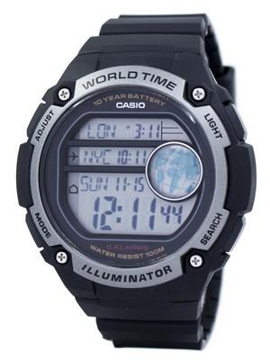 Casio Youth Illuminator World Time Digital AE-3000W-1AV AE3000W-1AV Mens Watch
