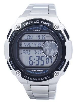 Casio Youth Illuminator World Time Digital AE-3000WD-1AV AE3000WD-1AV Mens Watch