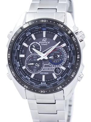 Casio Edifice Tough Solar Chronograph World Time EQS-500DB-1A1 EQS500DB-1A1 Mens Watch