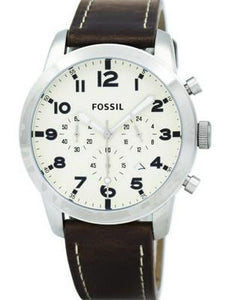 Fossil Pilot 54 Chronograph Leather And Nylon Box Set FS5182SET Men's Watch