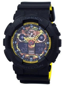 Casio G-Shock Shock Resistant World Time Analog Digital GA-100BY-1A Men's Watch