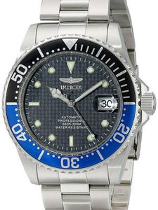 Invicta Pro Diver Automatic 200M WR Black Dial Stainless Steel 15584 Mens Watch