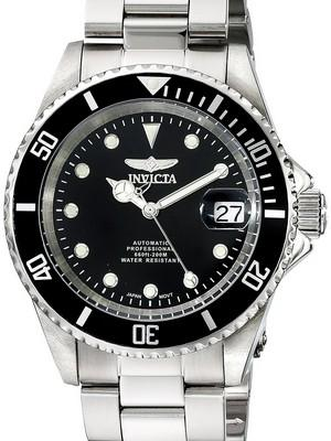 Invicta Automatic Pro Diver 200M WR Black Dial Stainless Steel 17044 Mens Watch