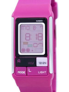 Casio Poptone Dual Time Alarm Digital LDF-52-4A LDF52-4A Womens Watch