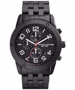Michael Kors Mercer Chronograph Quartz Black Ion Plated MK8350 Mens Watch