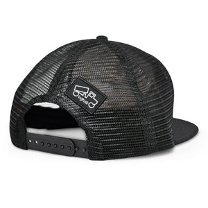 outdoor adventure, una vita di avventure con i nostri cappelli berretti Original Beach Flat Black on Black - bigtruck®