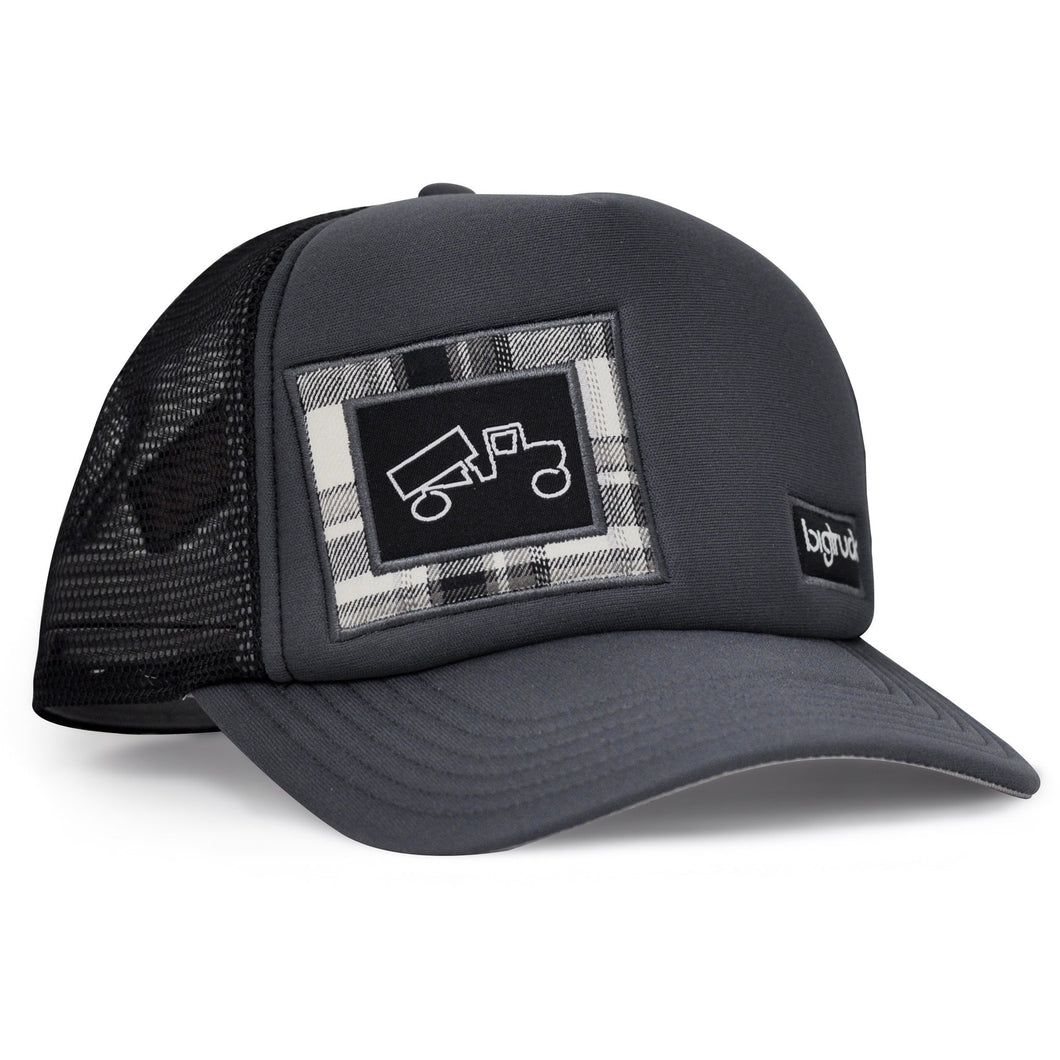 outdoor adventure, una vita di avventure con i nostri cappelli berretti Original Outdoor Charcoal Black Plaid - bigtruck®