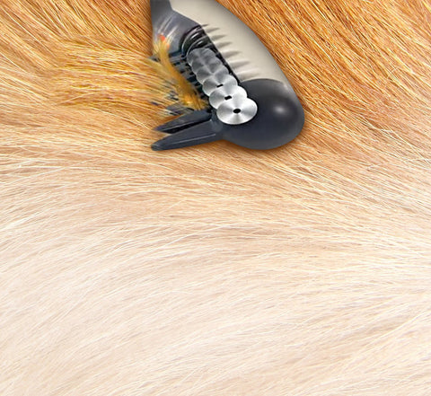 Image of Electric Pet Grooming Comb - Remove Knots and Tangles