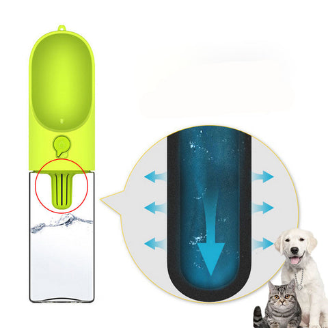 Image of Outdoor Dog Drinking Bottle