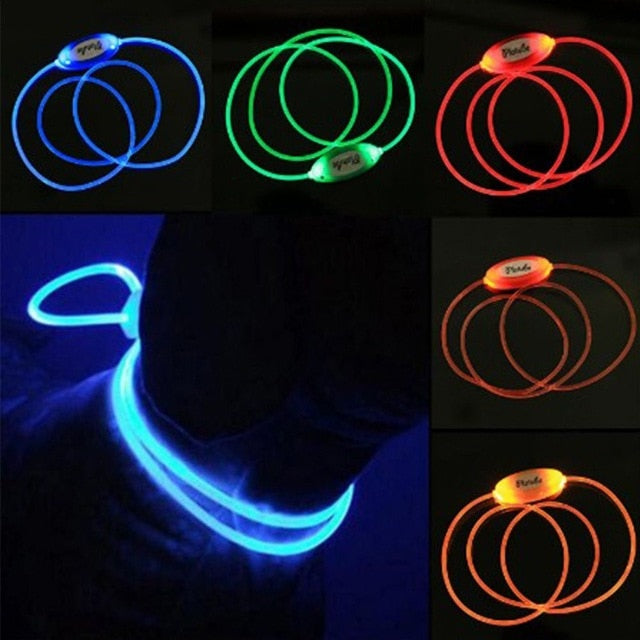 Multi-color LED Pet Collar Adjustable