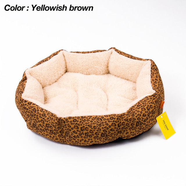 Leopard print Pet  Bed