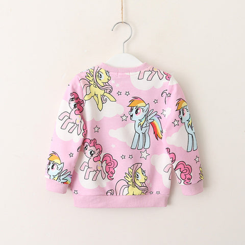 Image of Kids Sweatshirts Dog Rainbow Cartoon