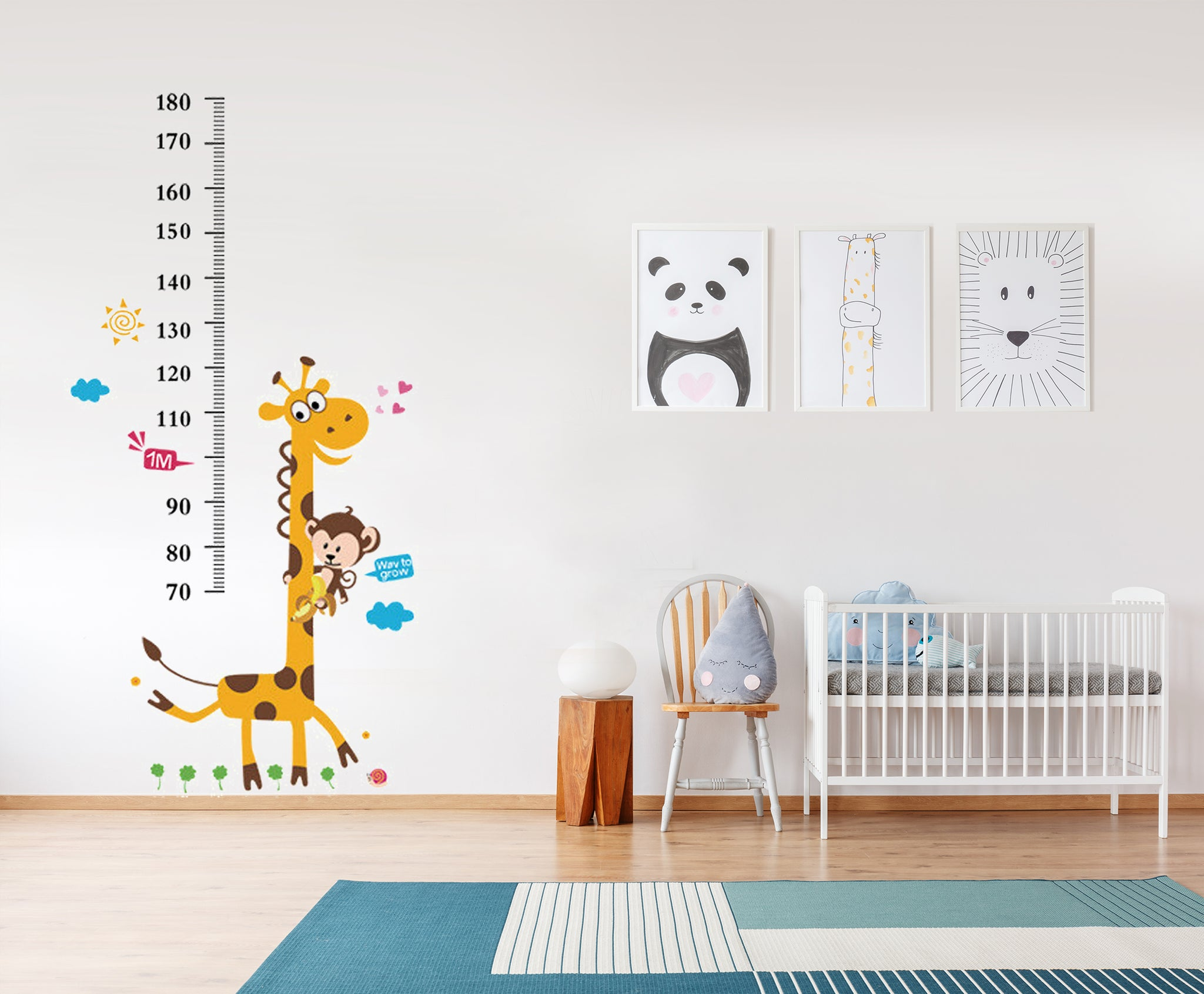 Smiling giraffe growth chart wall decal wall stickers for kids smiling giraffe growth chart wall decal wall stickers for kids room geenschuldenfo Image collections
