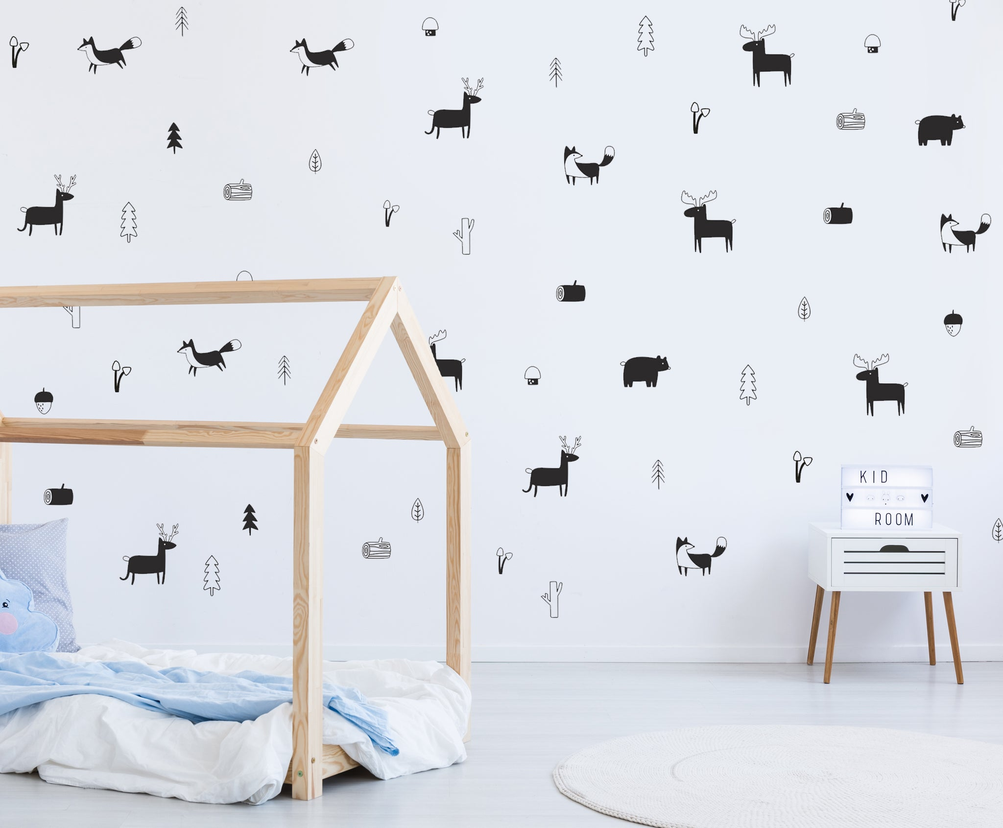 ... Animals In The Nordic Woodland | Vinyl Wall Decals | Kids Room Décor ...