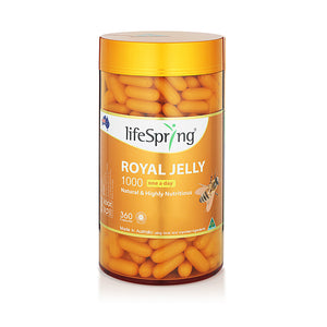 Life Spring Royal Jelly 1.1% 1000mg (360 capsules) (LS32)