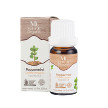 MR03 MT RETOUR (AUSTRALIA) PEPPERMINT (MENTHA PIPERITA) 100% CERTIFIED ORGANIC ESSENTIAL OIL 10ML