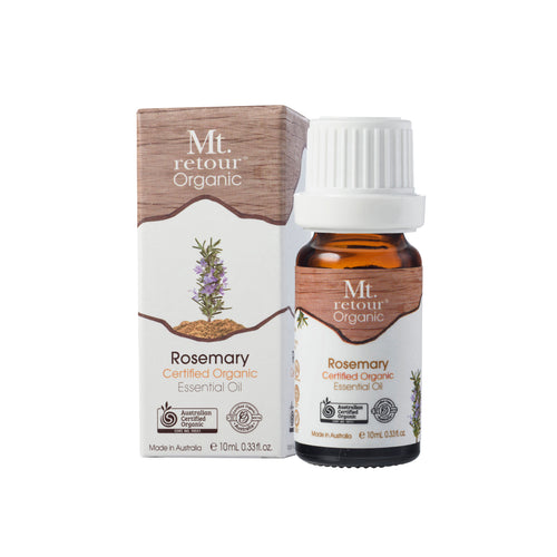 MR05 MT RETOUR (AUSTRALIA) ROSEMARY (ROSEMARINUS OFFINALIS) 100% CERTIFIED ORGANIC ESSENTIAL OIL 10ML