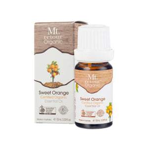 MR07 MT RETOUR (AUSTRALIA) SWEET ORANGE (CITRUS SINENSIS)100%CERTIFIED ORGANIC ESSENTIAL OIL 10ML