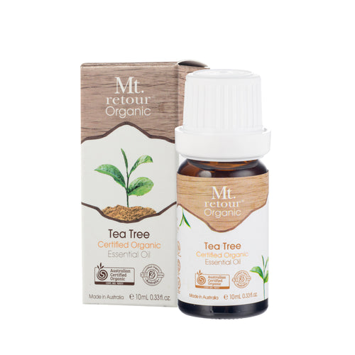 MR08 MT RETOUR (AUSTRALIA) TEA TREE (METHA PIPERITA) 100% CERTIFIED ORGANIC ESSENTIAL OIL 10ML