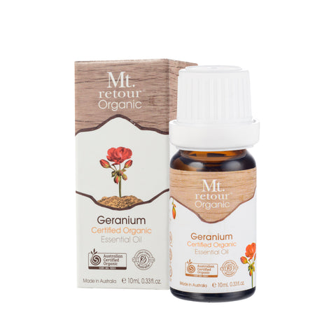 Mt Retour Geranium Certified Organic Essential Oil (MR10) 10ml