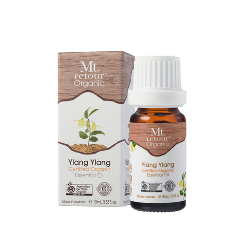 MR13 MT RETOUR (AUSTRALIA) YLANG YLANG (CANANGA ODORATA)100% CERTIFIED ORGANIC ESSENTIAL OIL 10ML