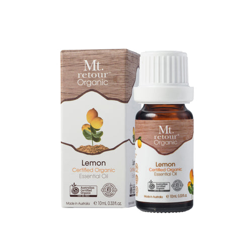 MR20 MT RETOUR (AUSTRALIA) LEMON (CITRUS LIMONUM) 100% CERTIFIED ORGANIC ESSENTIAL OIL 10ML
