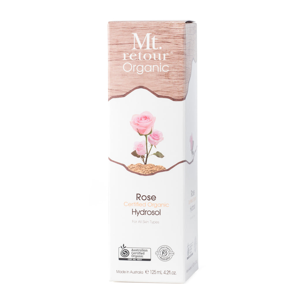 MR46 MT RETOUR CERTIFIED ORGANIC ROSE HYDROSOL FACE FLORAL MIST 125mL