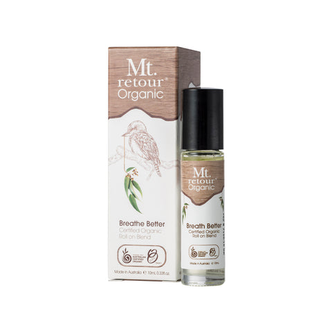 Mt Retour Breathe Better Certified Organic Roll On Blend (10ml)