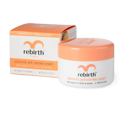 Rebirth Placenta & Vitamin E Anti-Wrinkle Cream (RB02) 100g