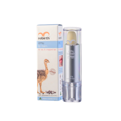 Rebirth Emu Lip Balm with Grape Seed & Acai Berry (RB17)