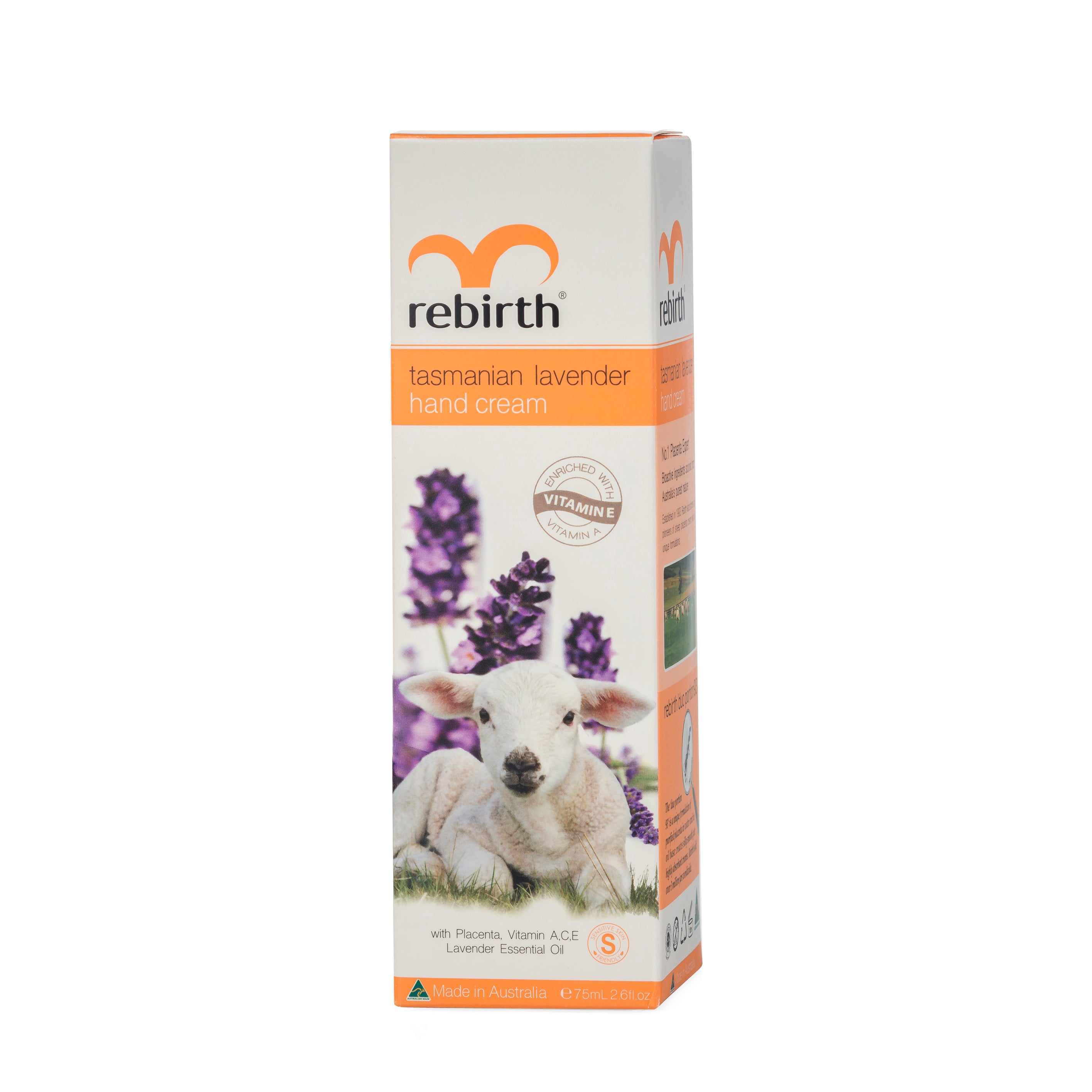 Rebirth Placenta Tasmanian Lavender Hand Cream (RB19) 75ml
