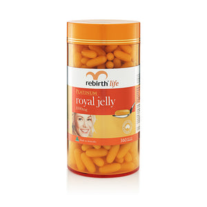 Rebirth Life Platinum Royal Jelly 1000mg (RL39) 360 Capsules