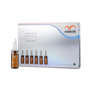 RM12 REBIRTH MAXIMUM MIRACLE C WHITENING COLLAGEN & WAKAMINE MAXIMUM SERUM GIFT SET 6X10ML