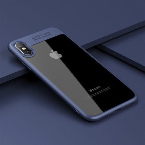 For iPhone X Luxury Ultra Slim Clear Shockproof Bumper Case Cover
